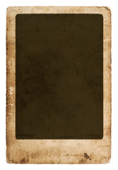 antique paper sheet with frame