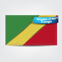 Fabric texture of the flag of Republic of the Congo