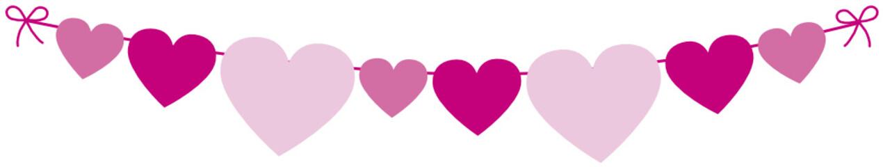 herzchen girlande in pink