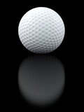 Golf ball black background
