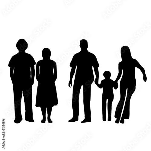 illustration of a family and teenager