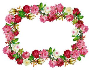 cornice floreale retro