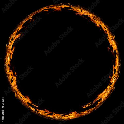 Leinwandbild Motiv Circle of fire