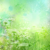 Fototapety Watercolor summer background