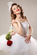 Pin-up bride in retro style