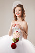Pin- up bride in retro style