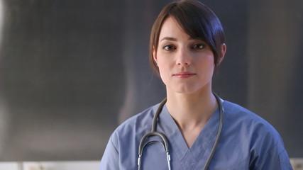 Healthcare worker. Portrait of female nurse.