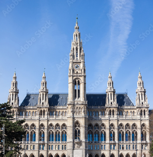 Rathaus, the Town Hall Building in Wien