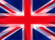 Distorted United Kingdom Union flag