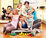 Fototapeta Women in aerobics class.