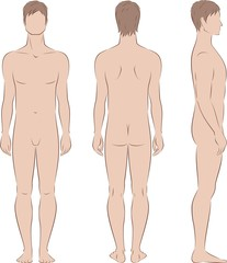 Vector fashion illustration of men's figure