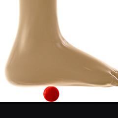Fußgymnastik mit Ball