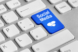 Tastatur mit Social Media