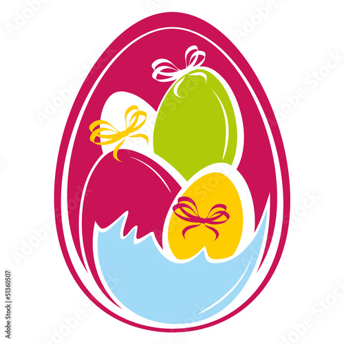 Easter Pattern witn colored eggs.eps