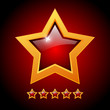 Rating glossy stars, vector illustration