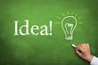Blackboard with Idea