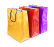 Colorful bags for shopping. 3D isolated on white background