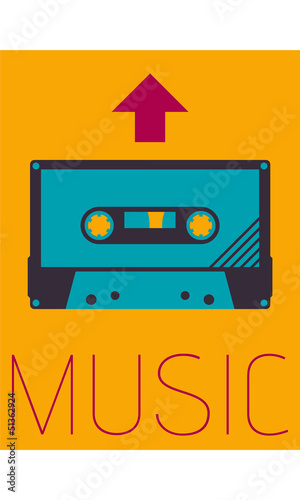 Vector Minimal Design - Music Cassette