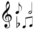 Various musical notes