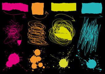 Set di elementi grafici grunge