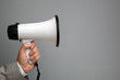 Megaphone with copy space