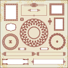 vintage floral pattern elements collection