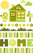 home green – vector illustration