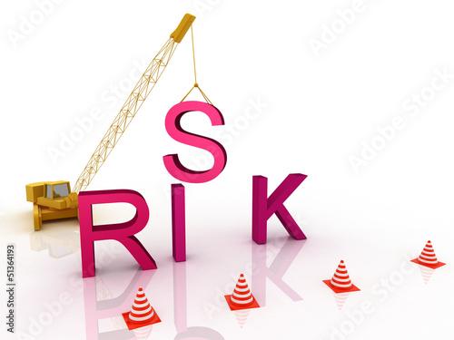 Risk letters falling apart