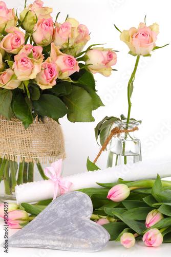 Geschenkgutschein, Blumen, Geburtstagsüberraschung