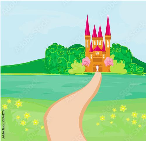 Papiers peints Chateau Magic Fairy Tale Princess Castle