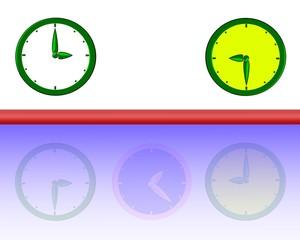 tre orologi