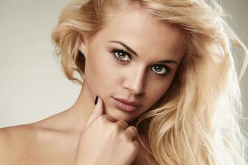Close-up Portrait of beautiful blond woman