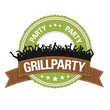 Button: Grillparty