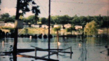 Flooded Neighborhood In Dallas Texas-1948 Vintage 8mm