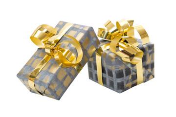 Zwei isolierte Weihnachtsgeschenke