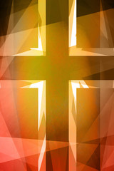 Red and orange religious cross