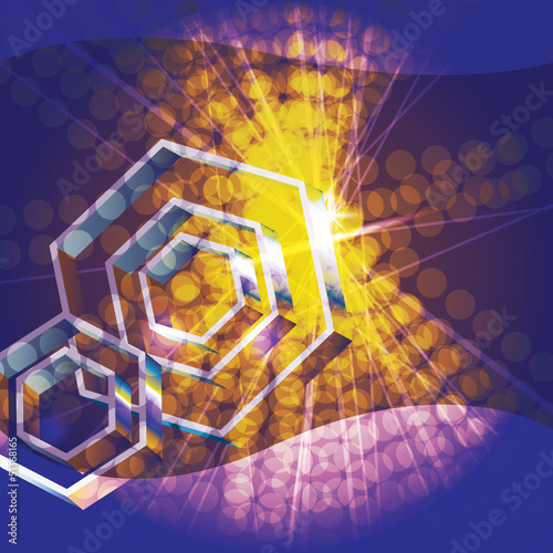 Abstract background with 3d hexagons