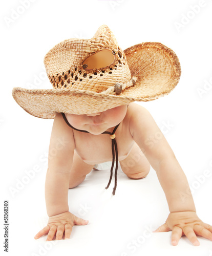 Baby boy wearing stetson hat
