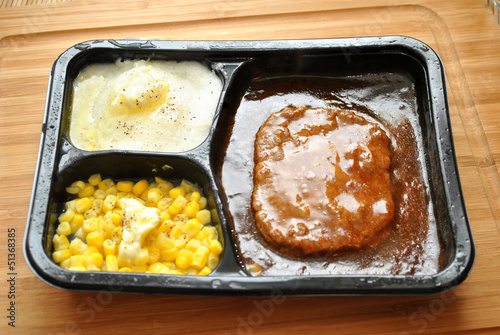 Salisbury Steak TV Dinner with Added Butter