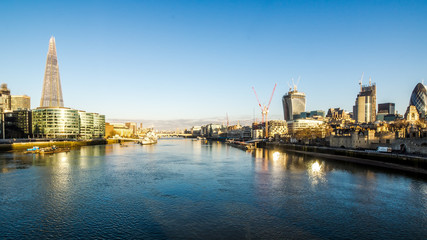 Thames Panorama at sunrise