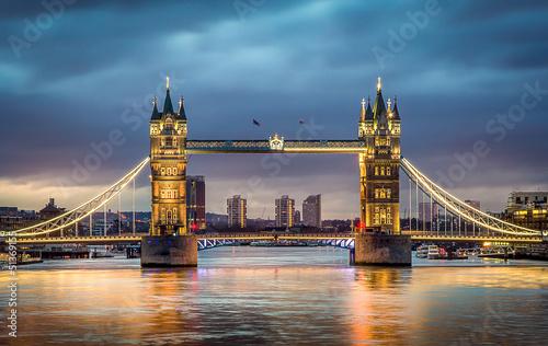 Fotobehang Oude gebouw Tower bridge sunset