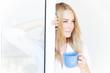 Young lady with tea mug
