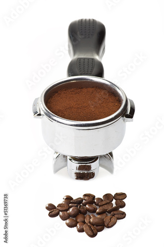 An espresso machine group head  for italian coffee