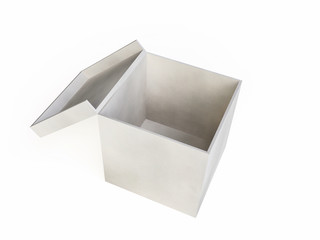 Textured White Box in 3D