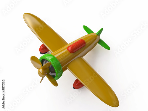 Toy Airplane Model in 3D