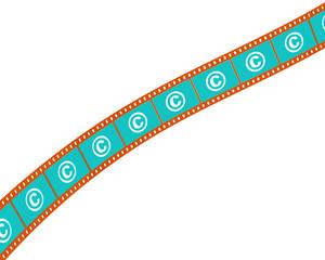 Фотопленка с знаком защиты авторского права