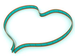 Символ сердца из фотопленки