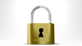 open and close a padlock with alpha channel