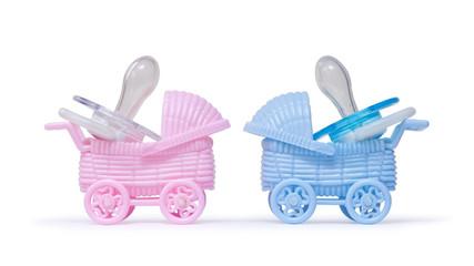 Kinderwagen und Schnuller