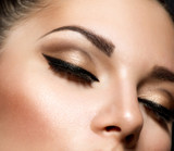 Eye Makeup. Beautiful Eyes Retro Style Make-up